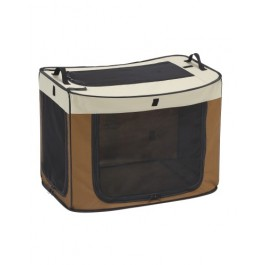 MARUKAN ONE TOUCH CAGE BROWN - AVAILABLE IN SMALL, MEDIUM & LARGE (DP682)