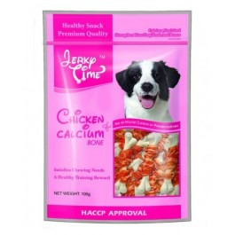 JERKY TIME CHICKEN & CALCIUM BONE - 100G [JT810179]