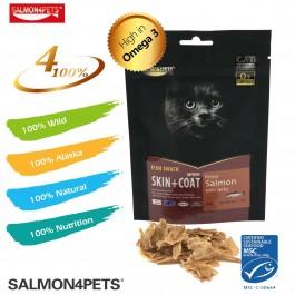 SALMON4PETS PRIME SALMON MINI JERKY FOR CATS  - 50G