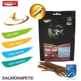 SALMON4PETS PRIME SALMON MINI STRIP FOR CATS  - 50G
