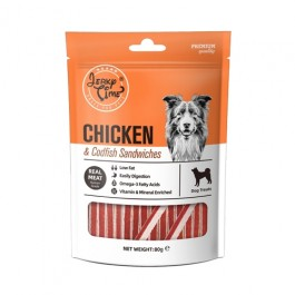 Jerky Time Chicken & Codfish Sandwiches for Dogs 80g (JT810186)