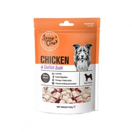 Jerky Time Soft Chicken & Codfish Sushi for Dogs 80g (JT810674)
