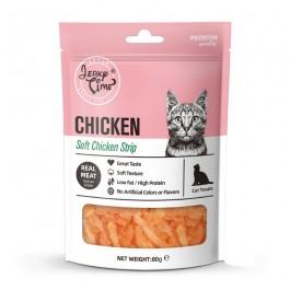 Jerky Time Soft Chicken Jerky Strip for Cat 80g (JT811077)