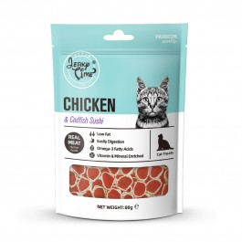 Jerky Time Chicken Jerky with Codfish Sushi for Cat 80g (JT811107) NEW