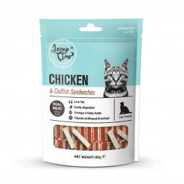 Jerky Time Chicken Jerky with Codfish Sandwich for Cat 80g (JT811114) NEW