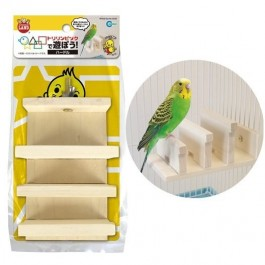 Marukan Wood Toy Hurdle for Birds (MB111)