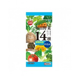 Marukan Hairball Control Food for Rabbit with 14 Kinds Of Vegetables (ML45)