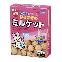 Marukan Bunny Milk Biscuit 85Gx2 packs a box (MR564)