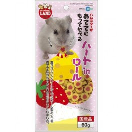 MARUKAN STRAWBERRY & CHEESE SNACK FOR HAMSTER 60G (MR932)