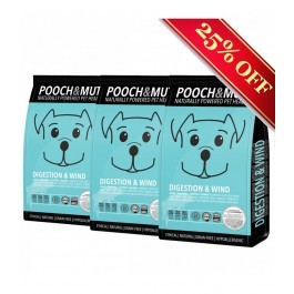 Pooch & Mutt Digestion & Wind Salmon Grain Free 3 x 2kg-  (PM590277P)