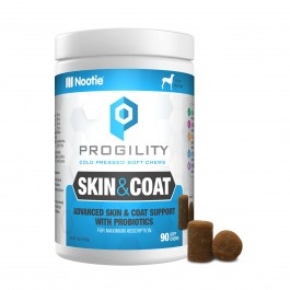 Nootie Progility Skin & Coat with Probiotics 90 Soft Chews (VP90SC)