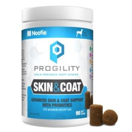 Nootie Progility Skin & Coat With Probiotics – 90 Soft Chews [VP90SC]