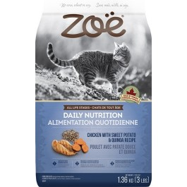Zoë Cat Daily Nutrition - Chicken with Sweet Potato & Quinoa Recipe - 1.3 kg [52571]