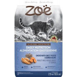 Zoë Cat Daily Nutrition - Chicken with Sweet Potato & Quinoa Recipe - 2.5 kg [52572]