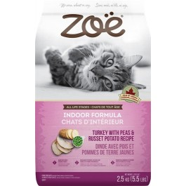 Zoë Cat Indoor Formula - Turkey with Peas & Russet Potato Recipe - 2.5 kg [52577]