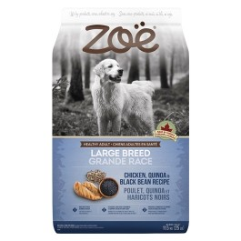 Zoë Large Breed Dog Food - Chicken, Quinoa and Black Bean Recipe - 11.5 kg