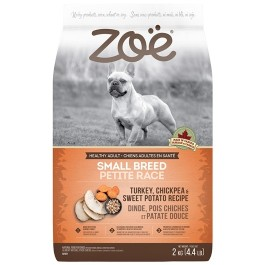 Zoë Small Breed Dog Food - Turkey, Chickpea and Sweet Potato Recipe - 2 kg [92921]