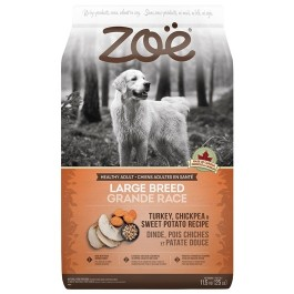 Zoë Large Breed Dog Food - Turkey, Chickpea and Sweet Potato Recipe - 11.5 kg