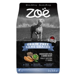 Zoë Dog Grain Free, Chicken with Peas & Quinoa Recipe - 2 kg (4.4 lbs) [92939]